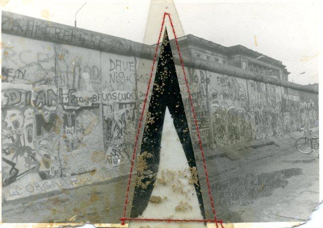 Beste Wünsche für 1990: East-German artist Angela Rother's (front) postcard to Danish artist Mogens Otto Nielsen.