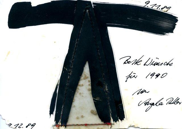 East-German artist Angela Rother's (back) postcard to Danish artist Mogens Otto Nielsen.