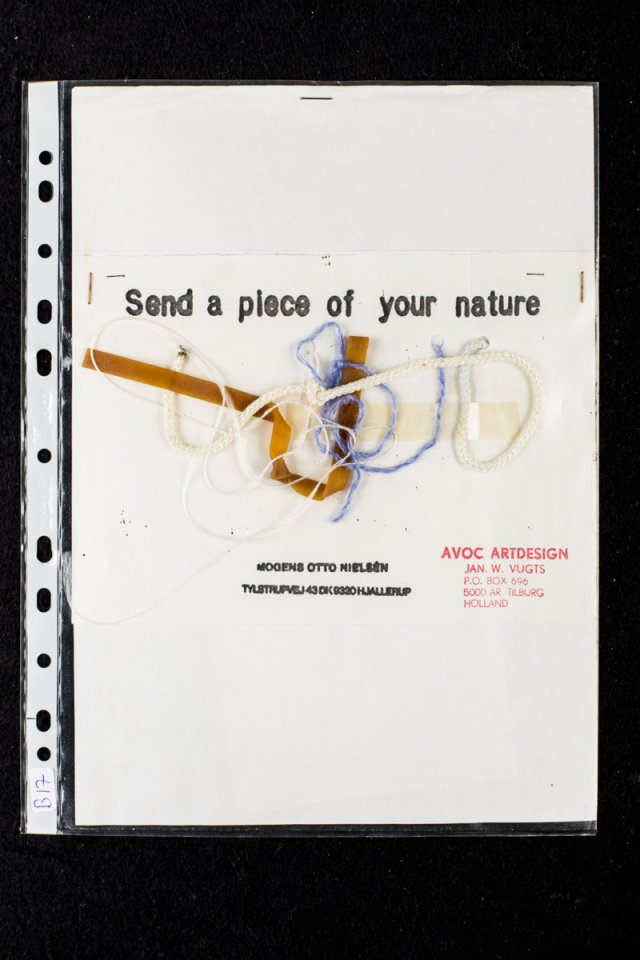 Dutch artist Jan W. Vugts' contribution to Nielsen's Send a Piece of Your Nature (1985-87).